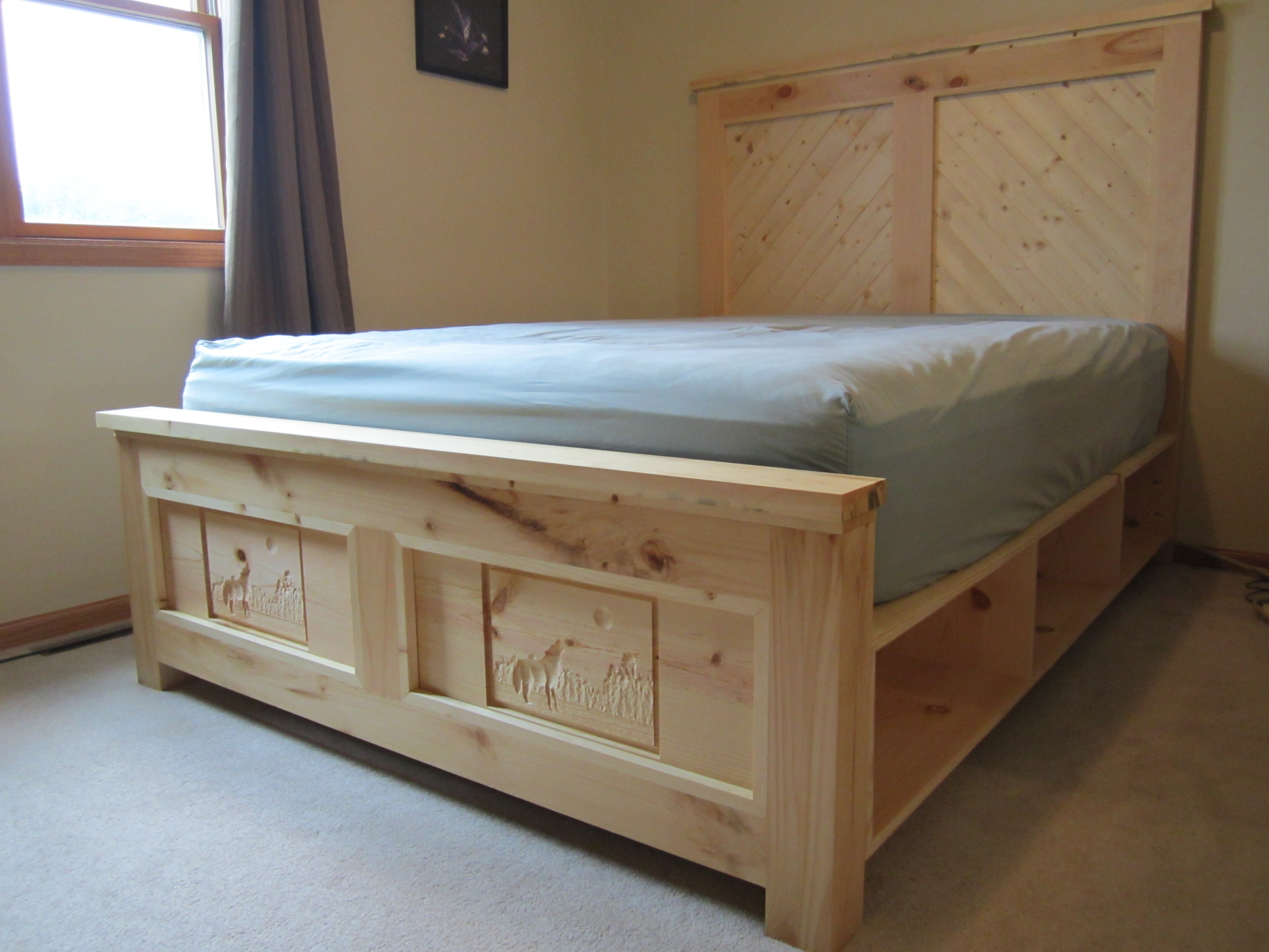 Ana White Northern Wisconsin White Pine Bed And Dresser