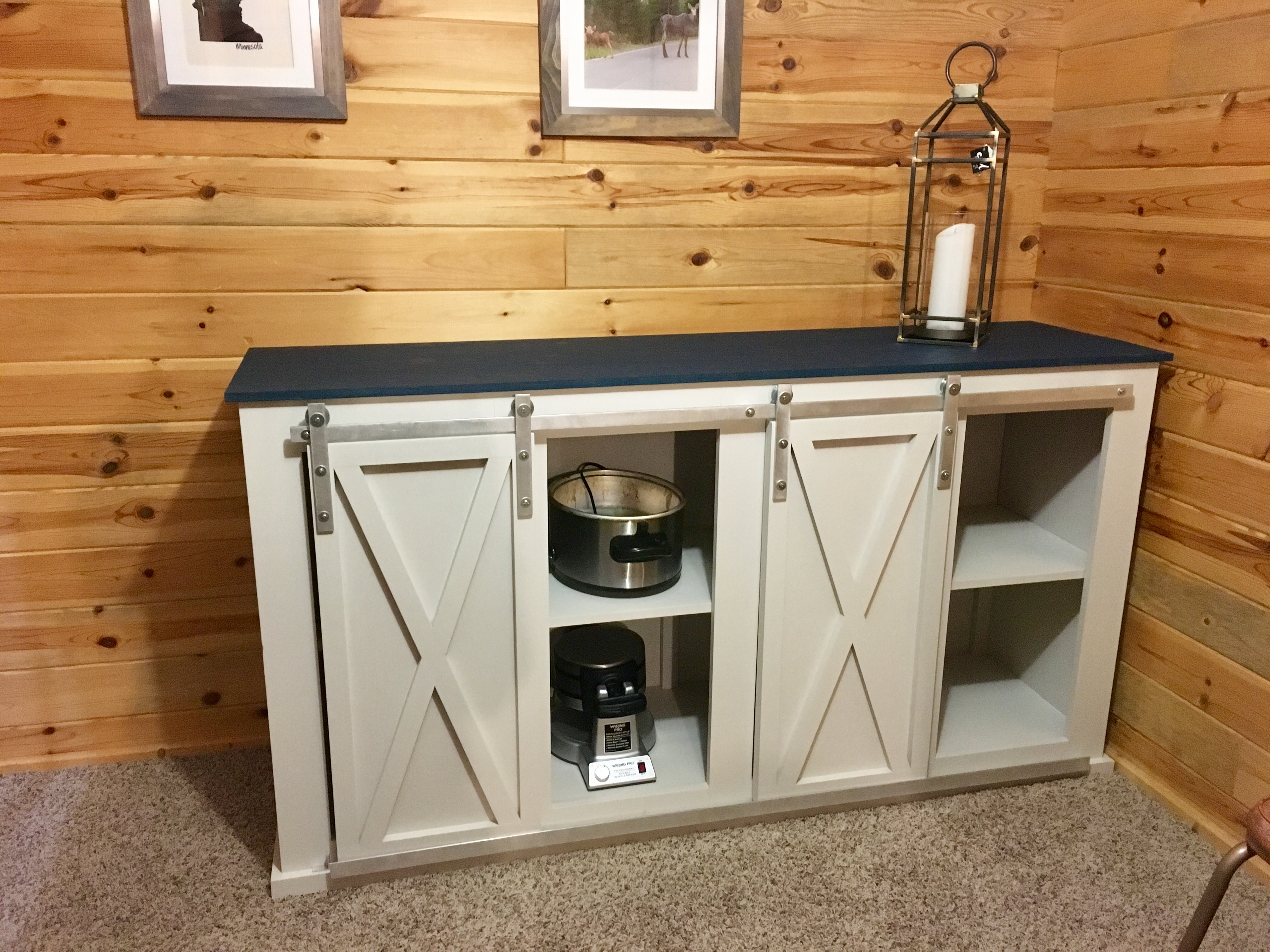 Ana White Grandy Sliding Door Console Diy Projects