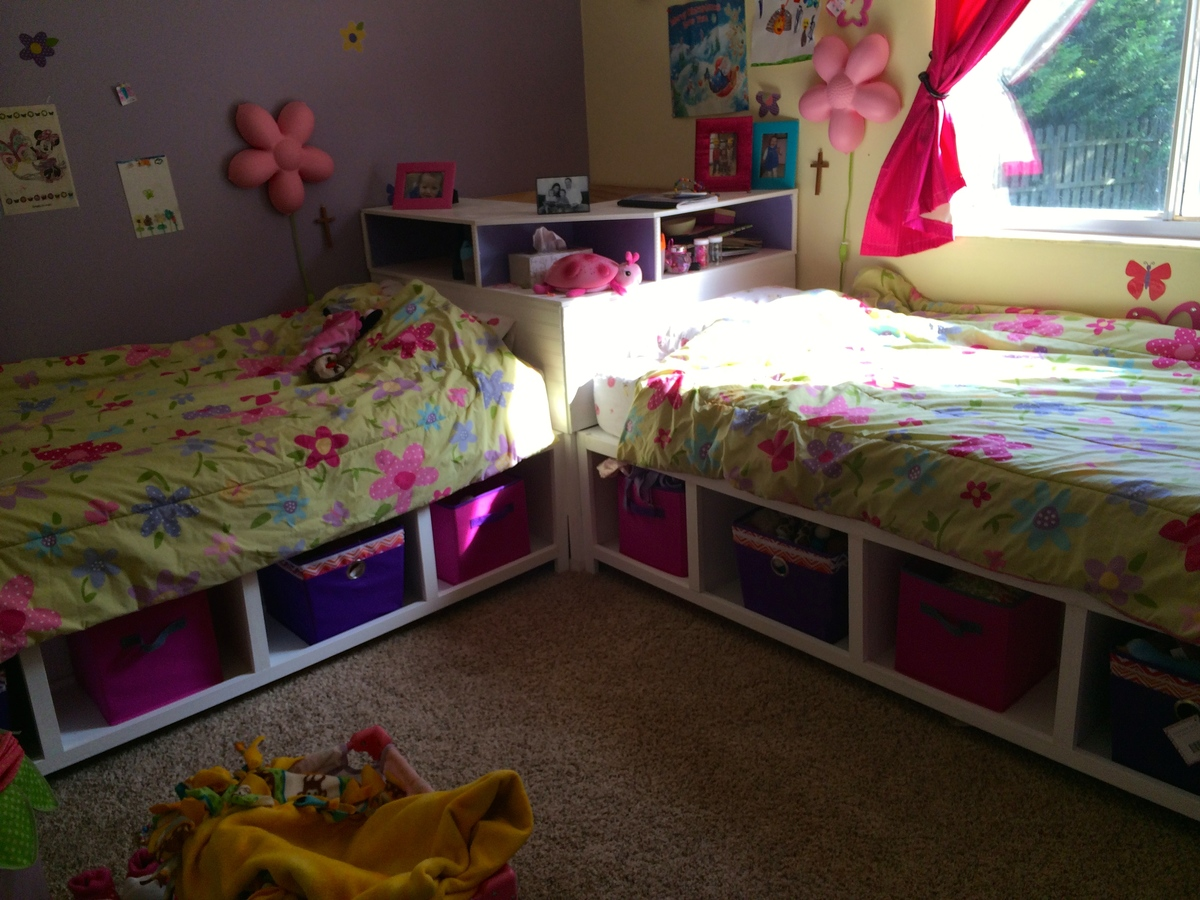 Ana White Storage Twin Beds With Corner Unit And Secret Hideout Diy Projects