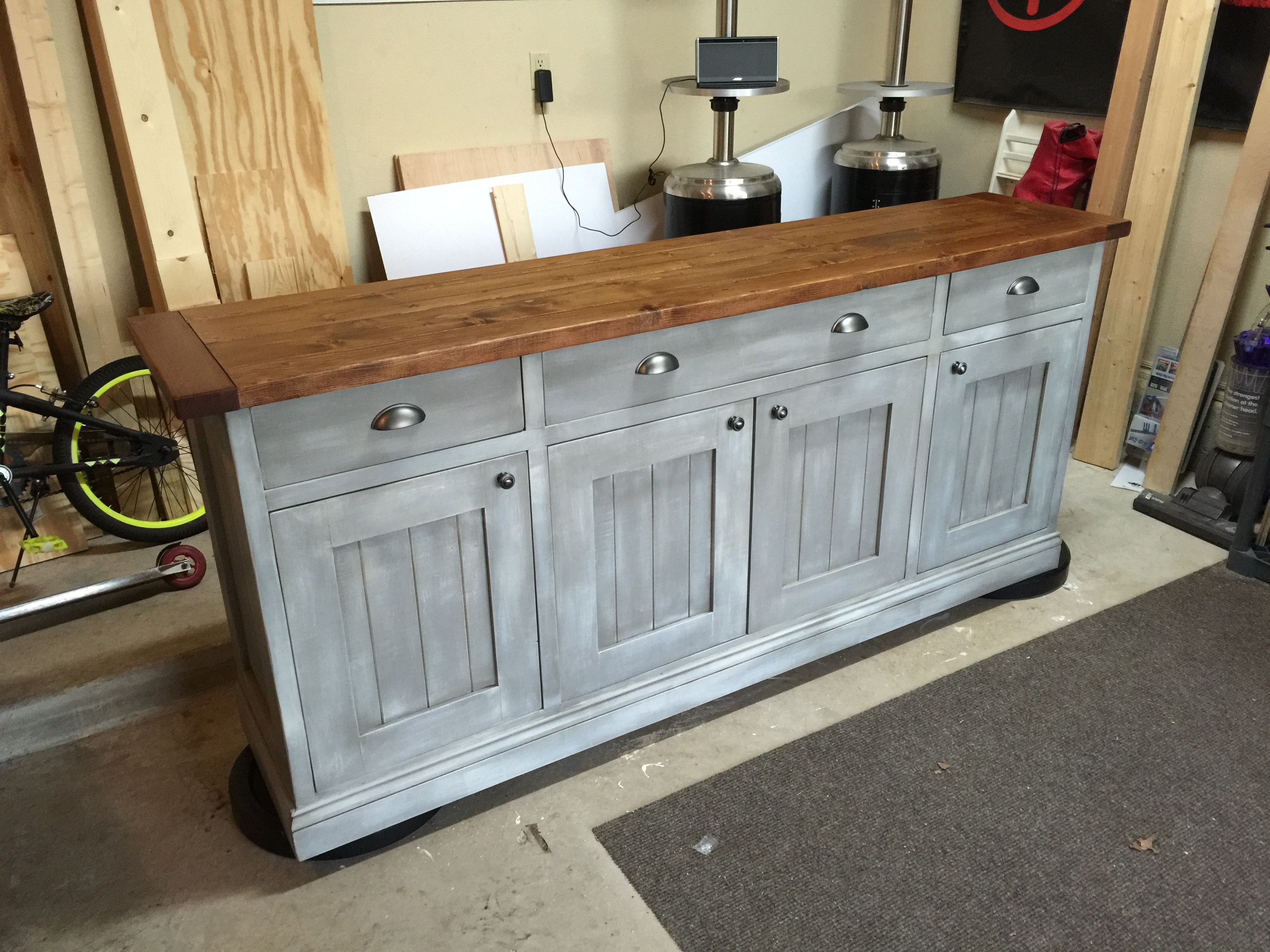 Planked Wood Sideboard - DIY Projects