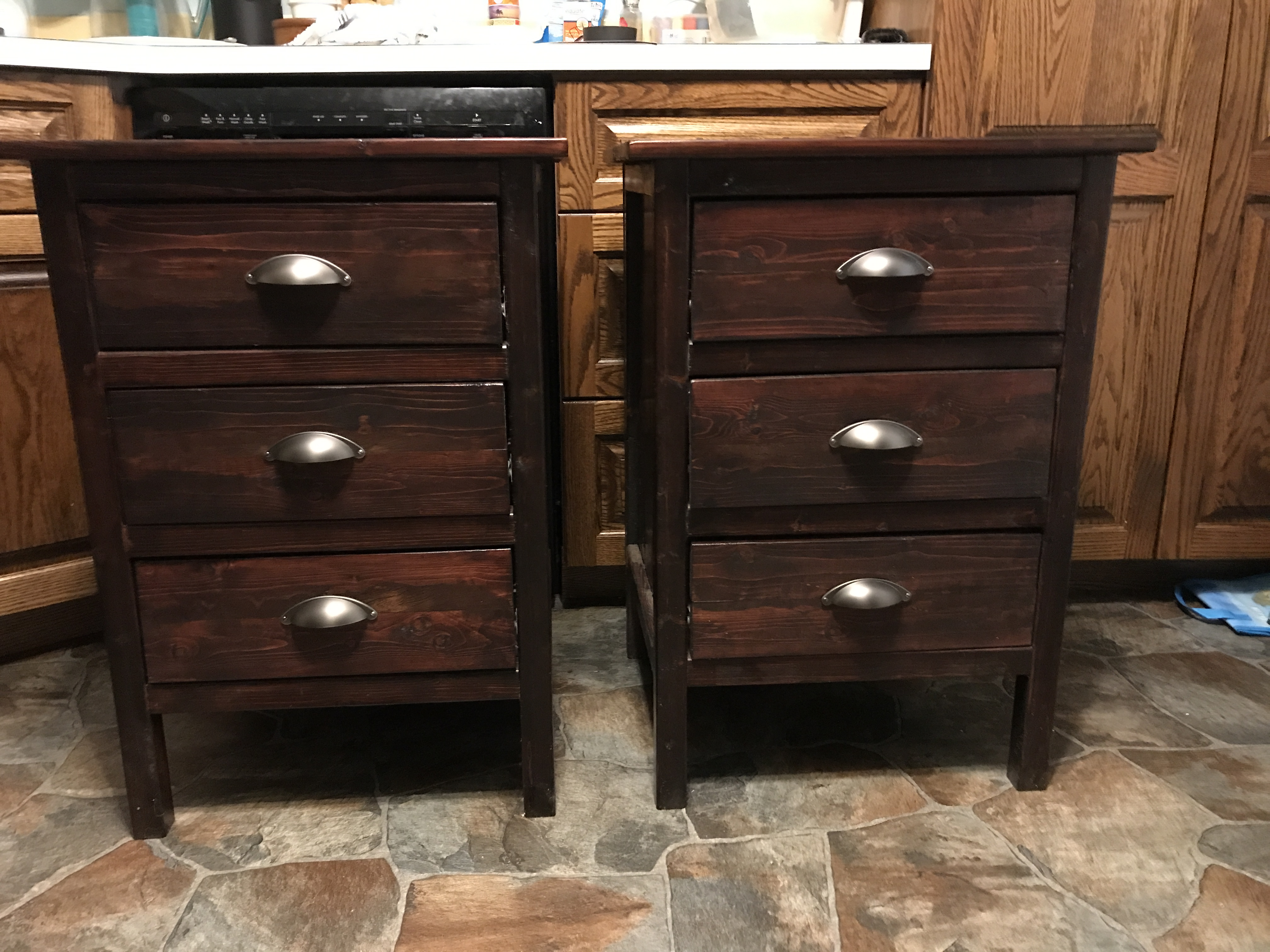 Ana White Reclaimed Wood Look Nightstands Diy Projects