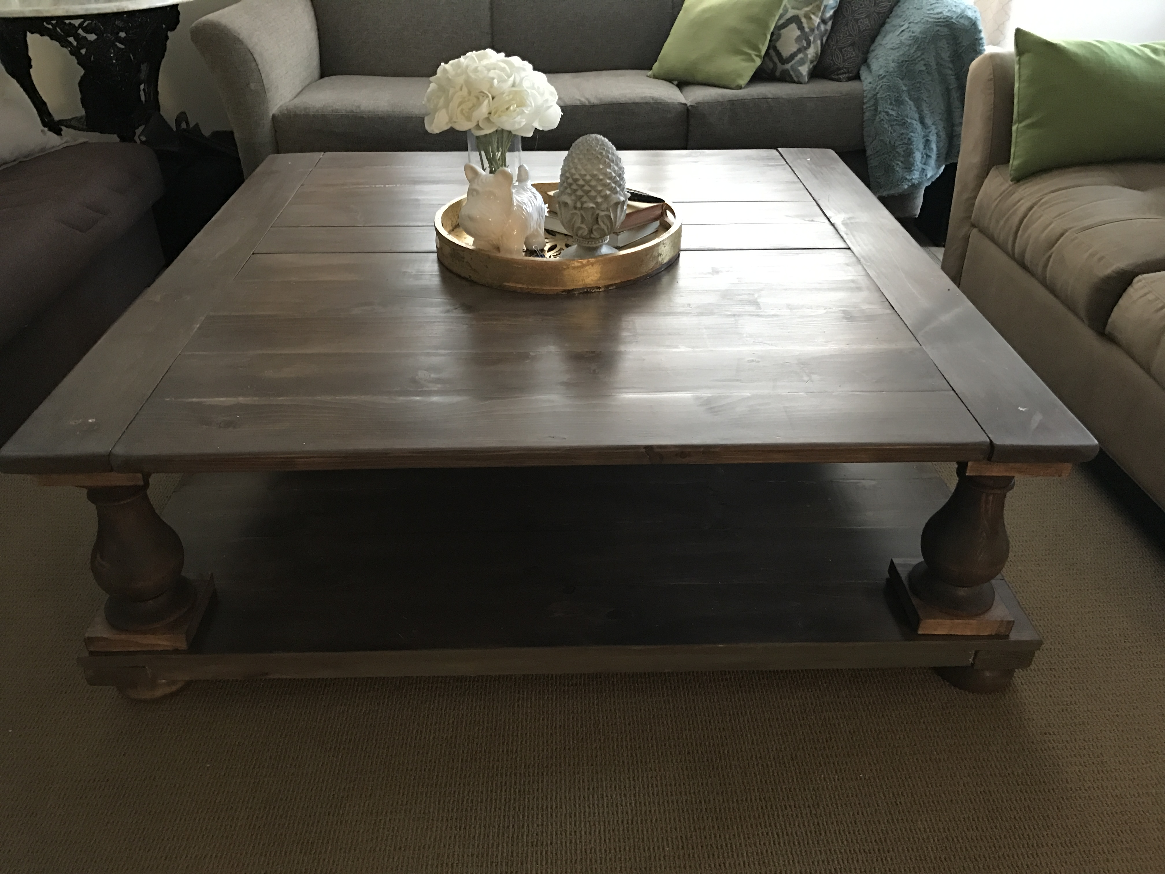 Ana White Large Square Balustrade Coffee Table Diy