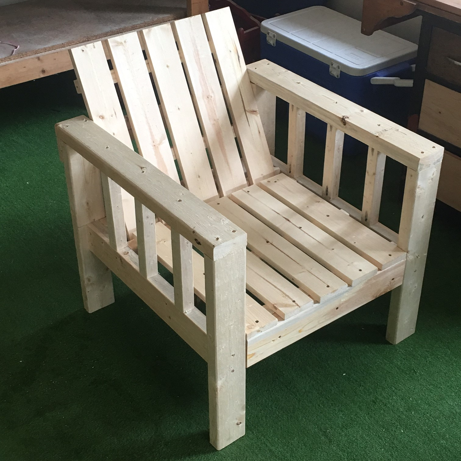 Ana White My Simple Outdoor Lounge Chair With 2x4 Modification Diy Projects
