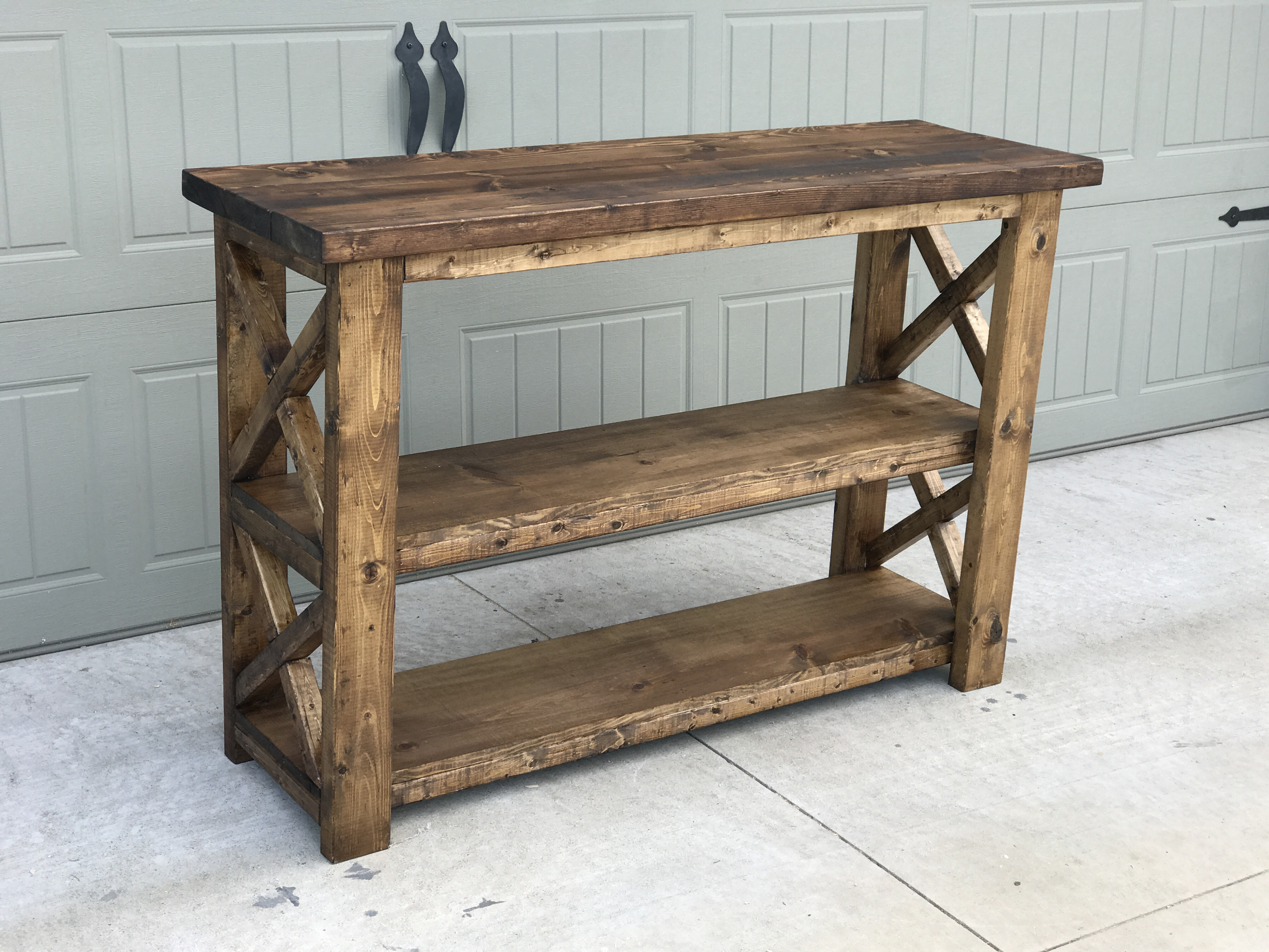 Ana white 4ft rustic console diy projects for 4ft sofa table