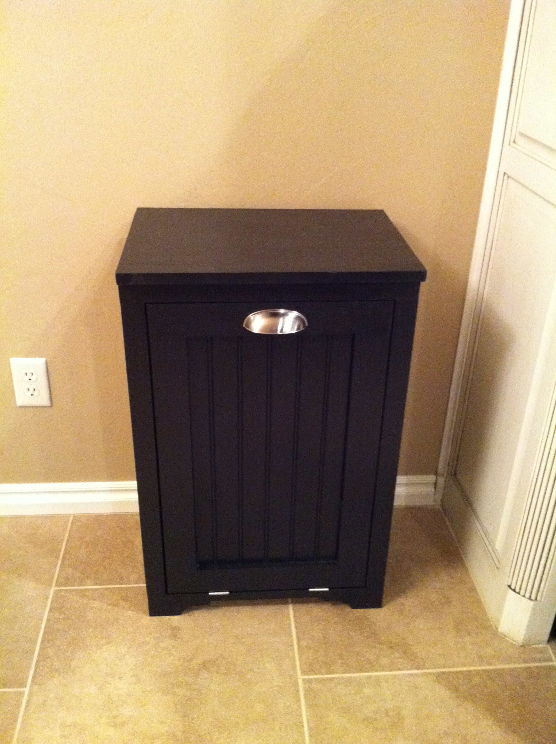 Ana White Trash Can Cabinet W Bead Board Insert Diy