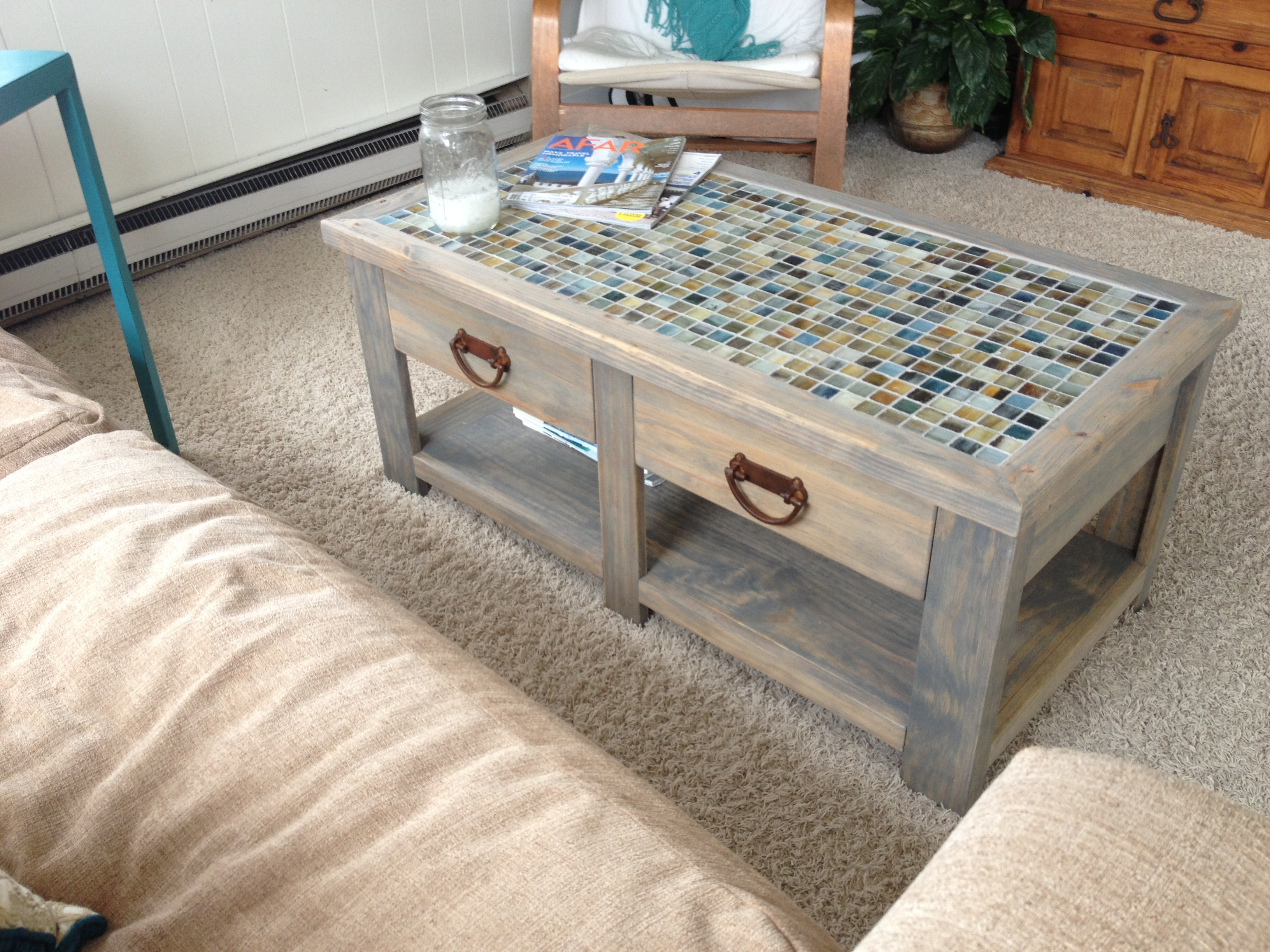 Ana White Tile Top Coffee Table Diy Projects