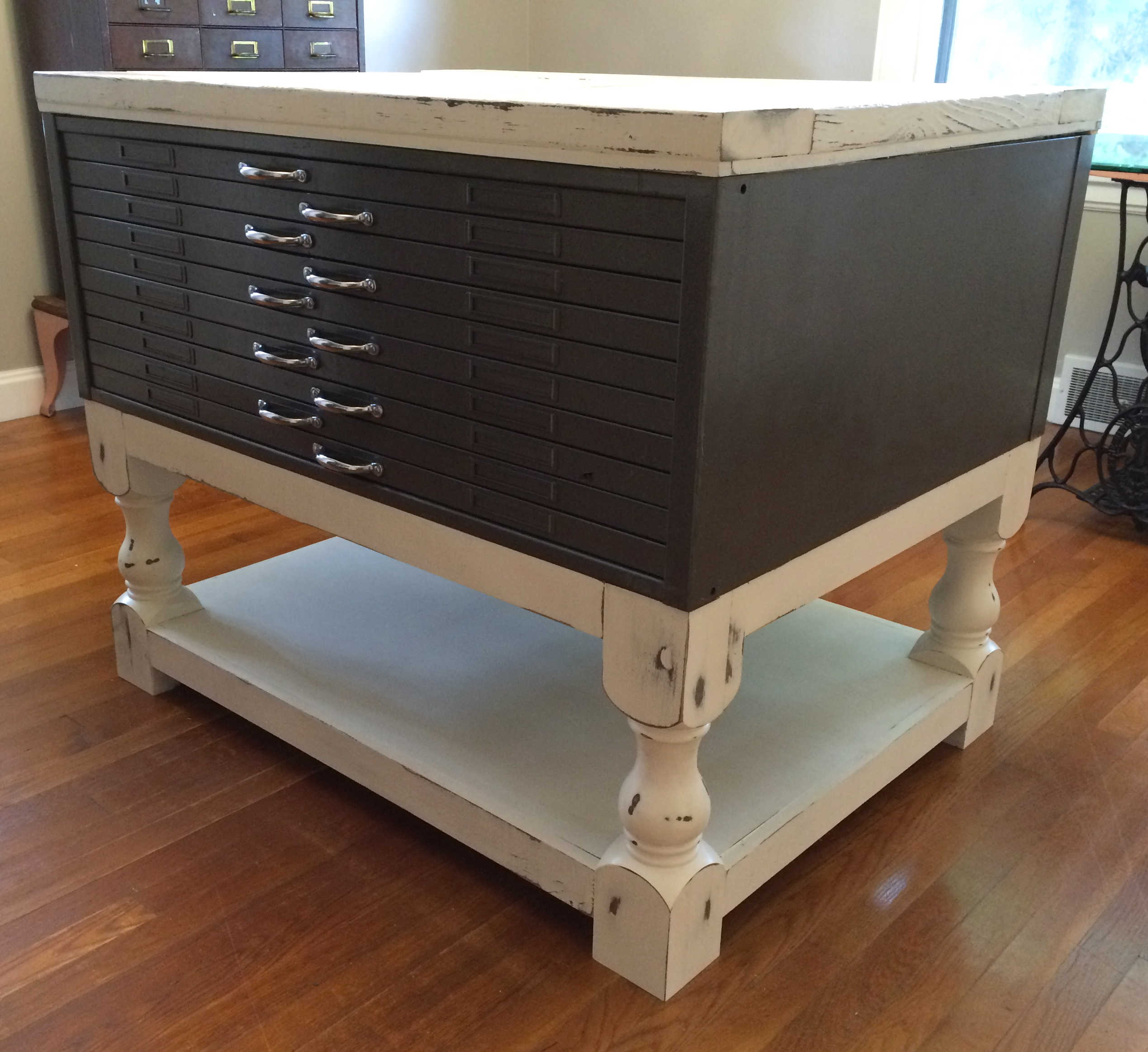 Coffee Table Plan Modified For Flat File Cabinet Table Ana