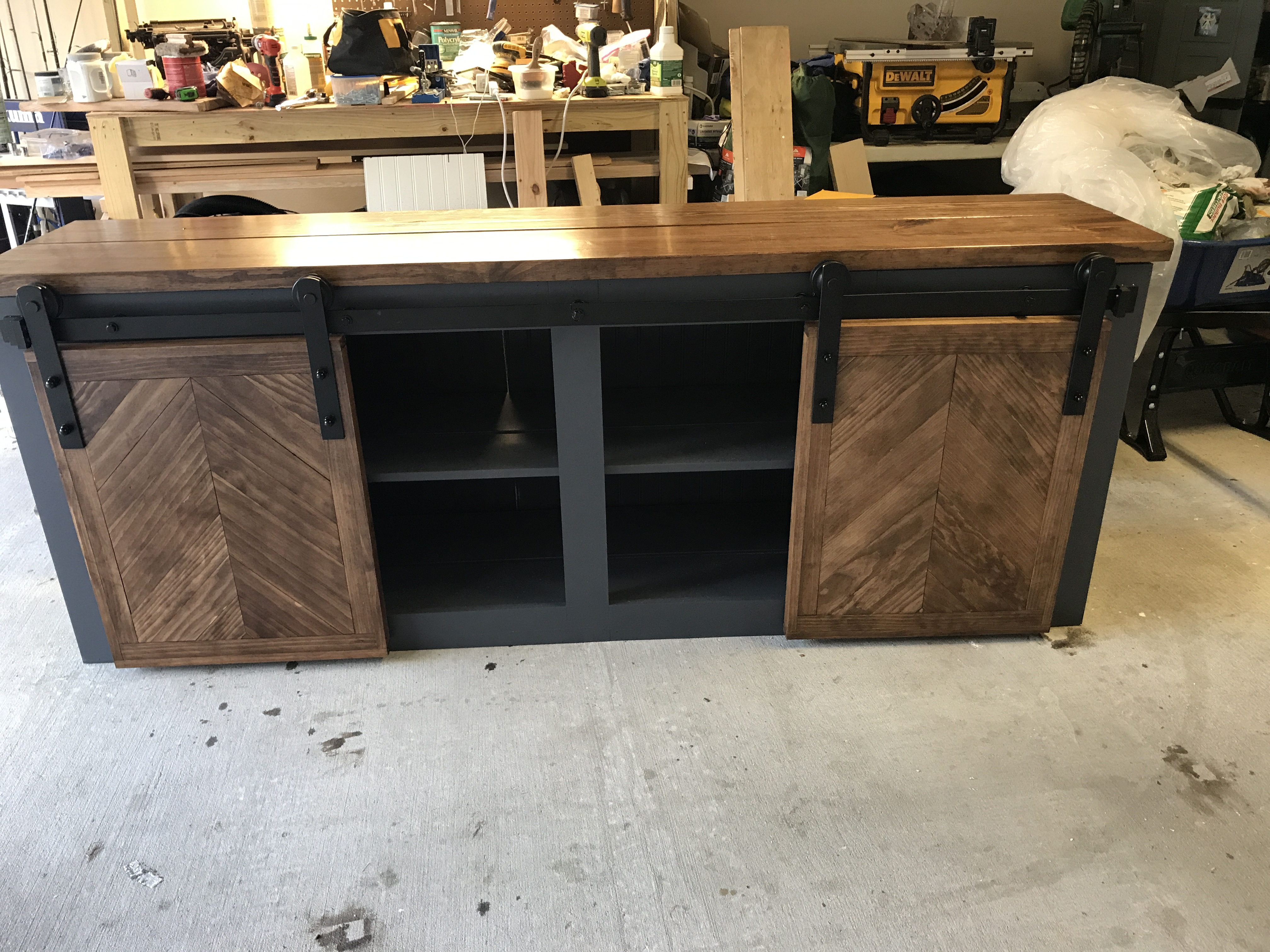 Ana White Grandy Sliding Console Diy Projects
