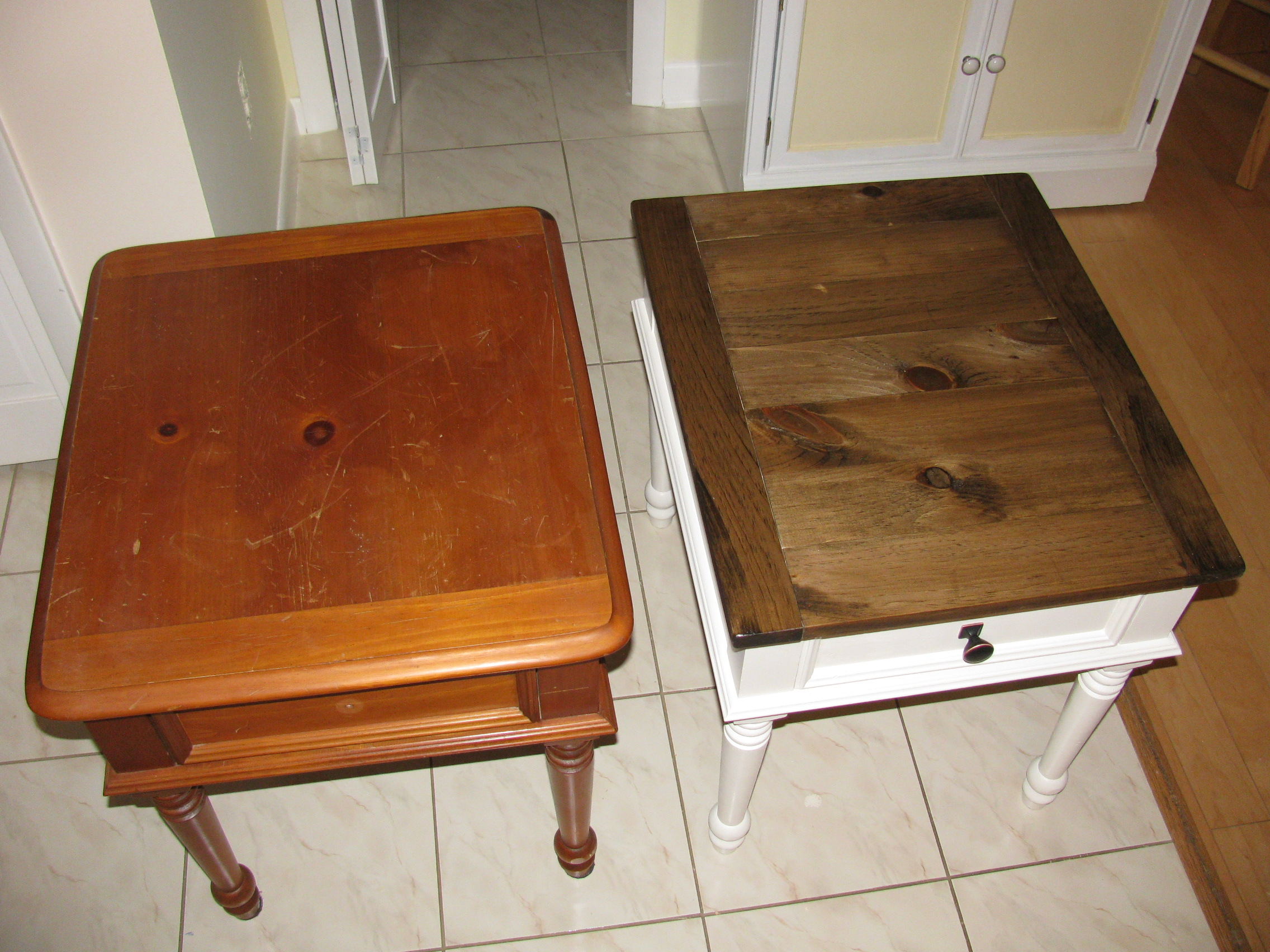 Ana White Coffee And End Table Rebuild And Refinish Diy Projects
