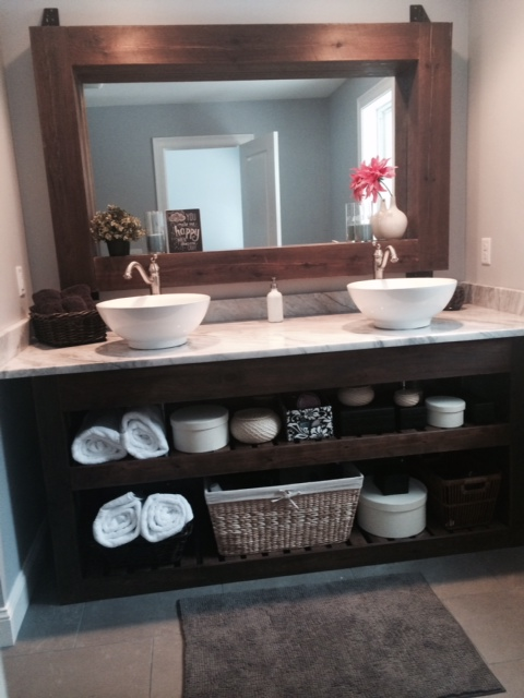 White Farmhouse Bathroom Mirror