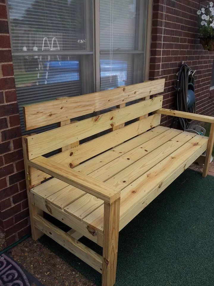 Wood Storage Bench With Back
