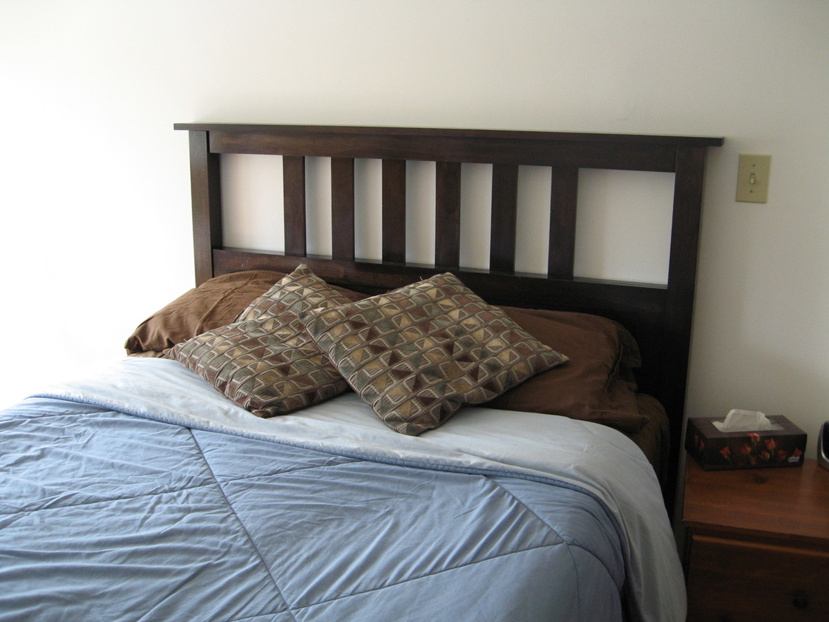 Diy mission style headboard plans free plans free for Mission style bed plans