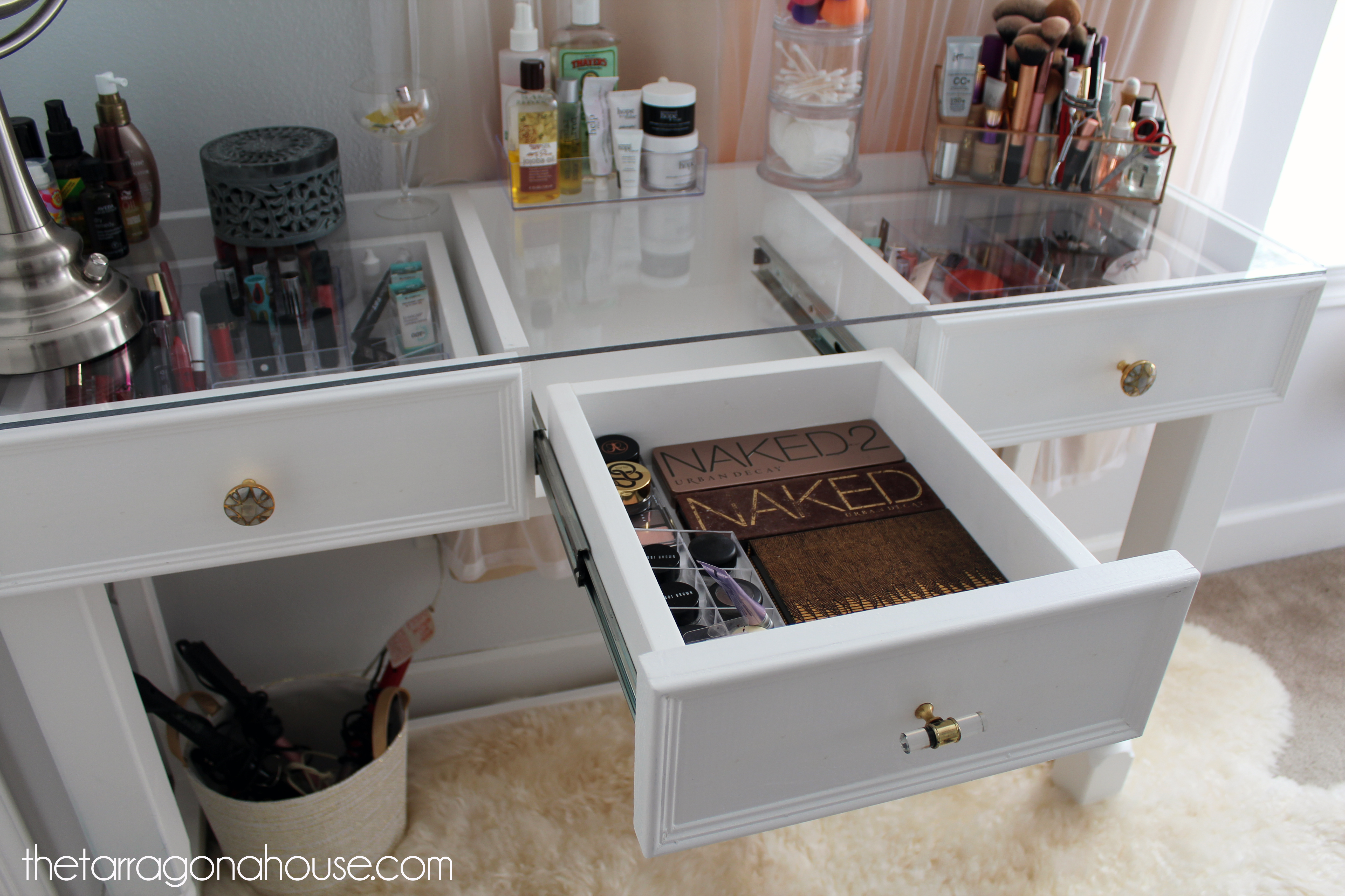 Ana White | DIY Glass Top Vanity - DIY Projects