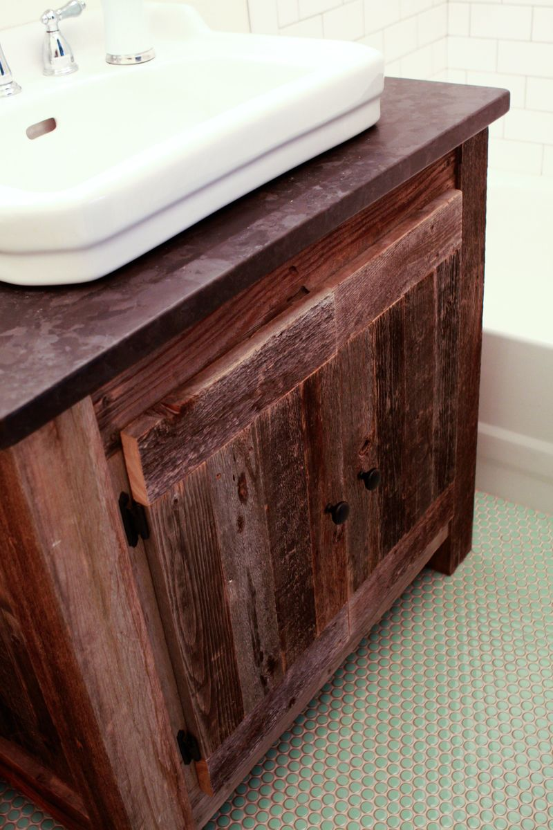 ana white reclaimed wood farmhouse vanity diy projects