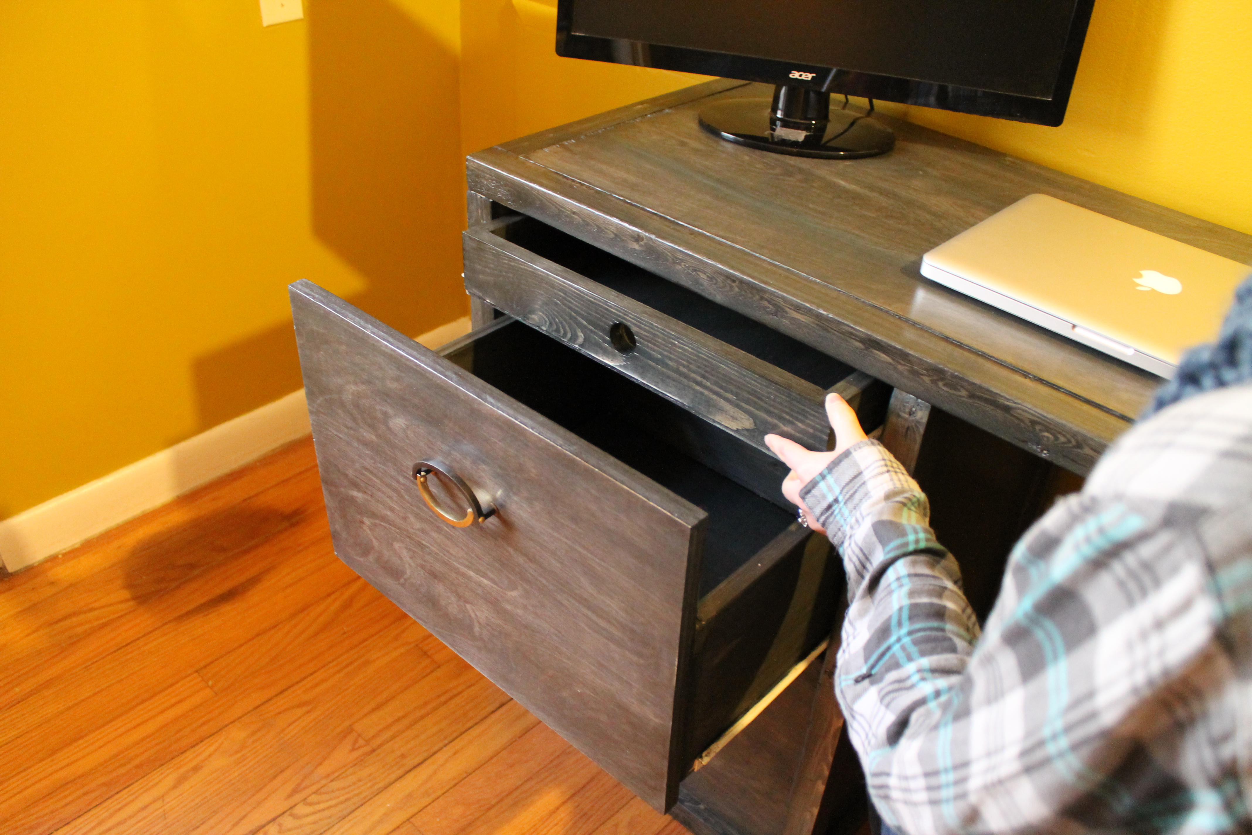 Ana White Modified Parson Tower Desk Diy Projects