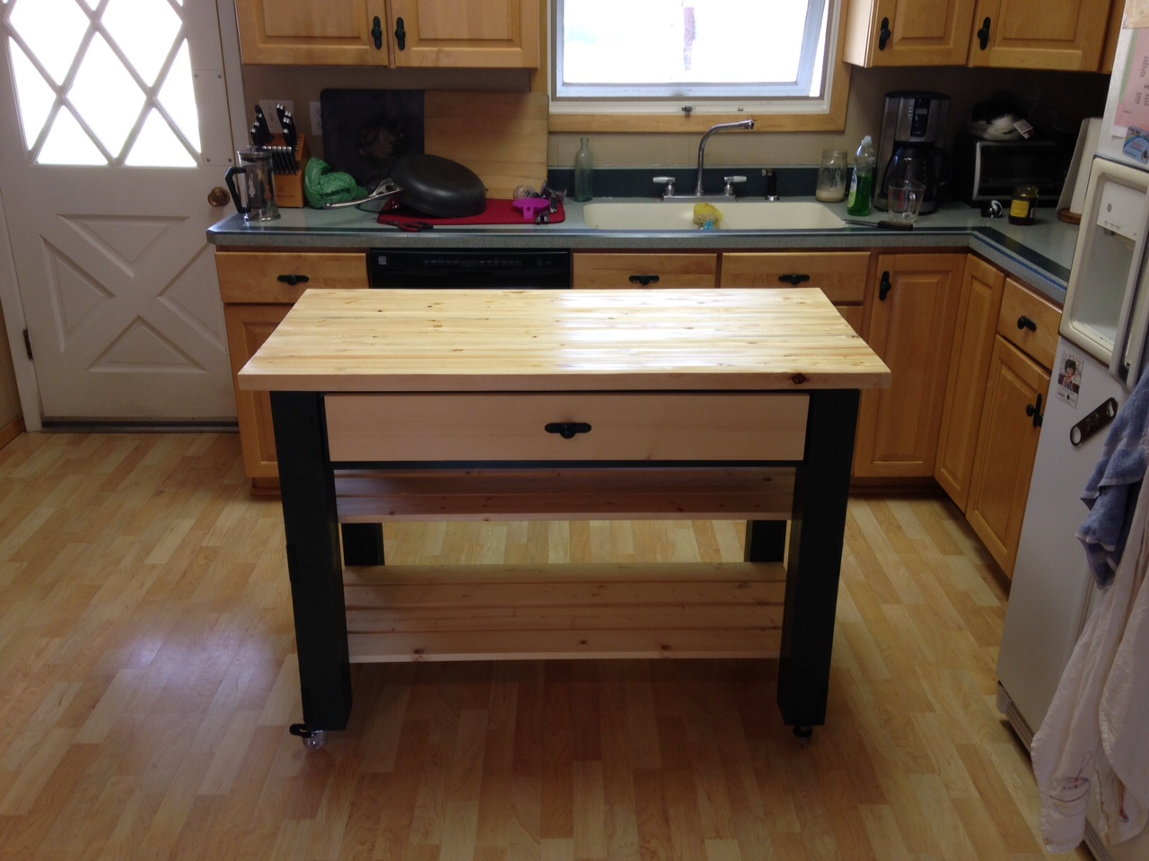 Ana White Rolling Kitchen Island Diy Projects