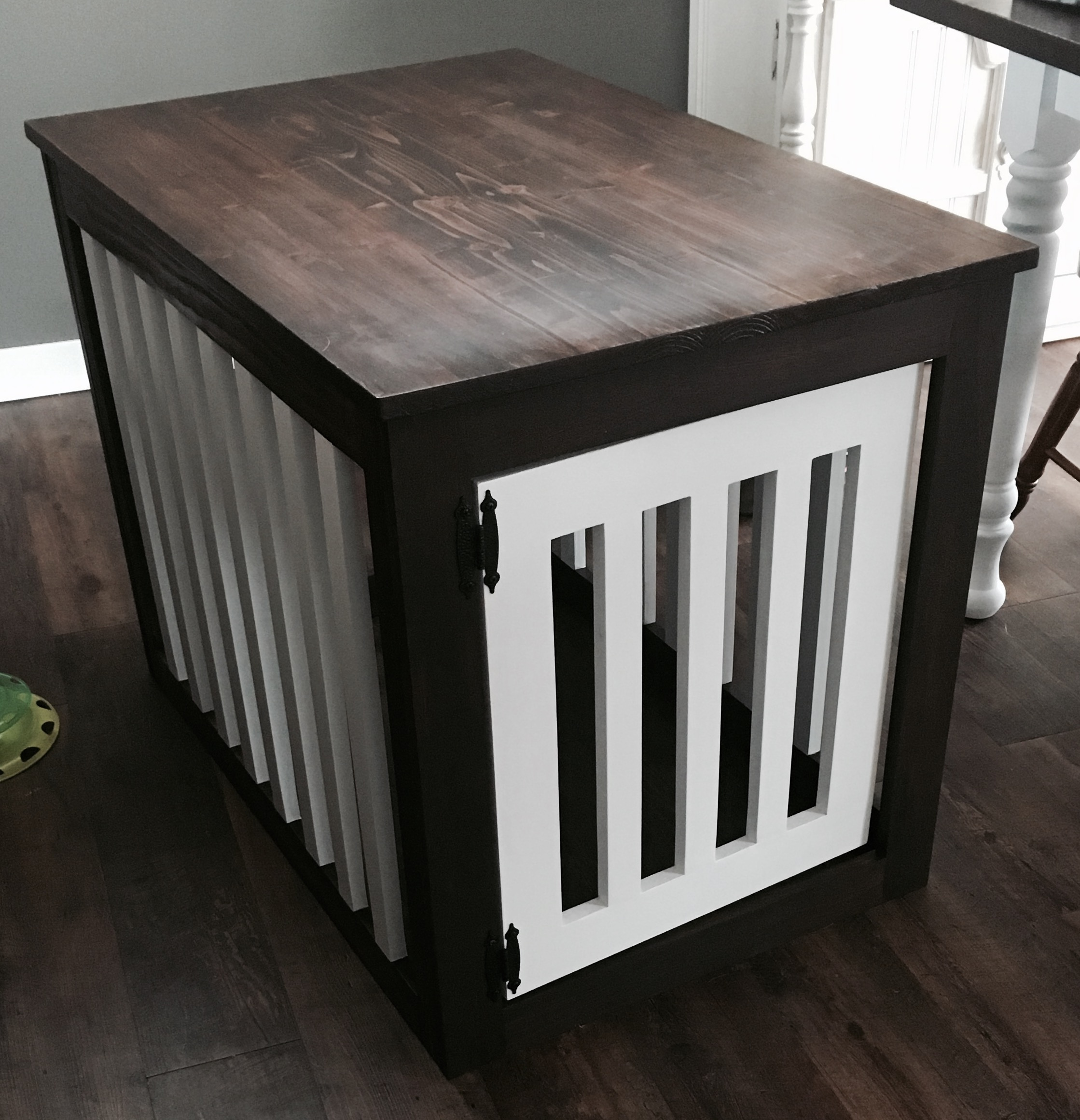 Wood Dog Crate End Table Ana White