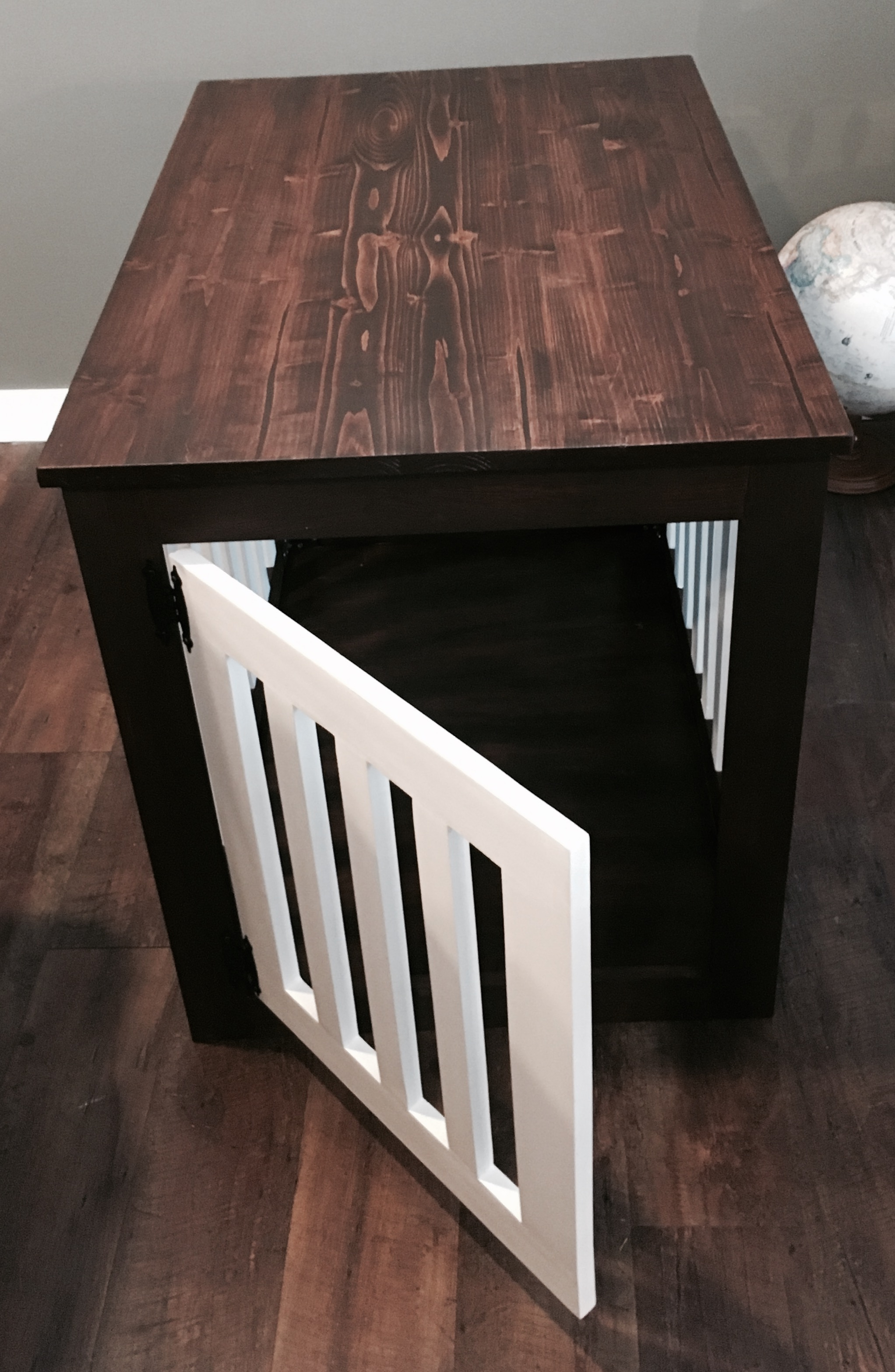 Ana White Wood Dog Crate End Table Diy Projects