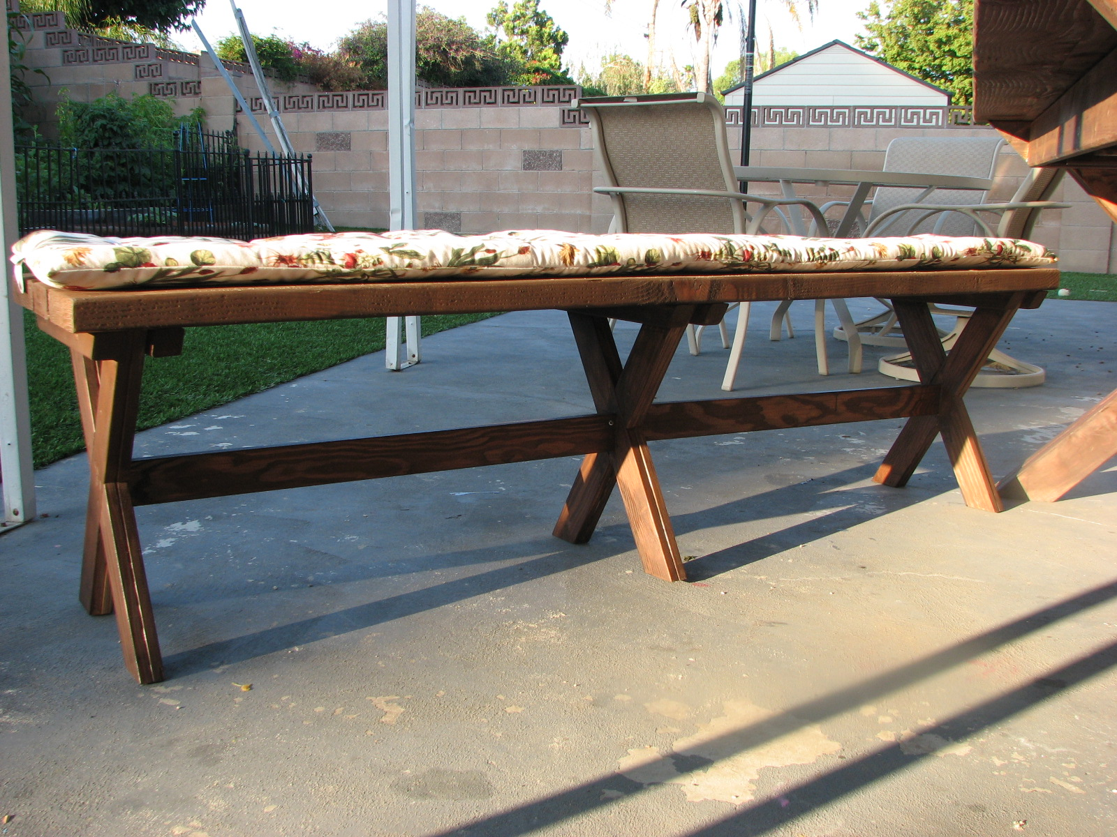 Pb benches and x table ana white woodworking projects for Ana white table bench