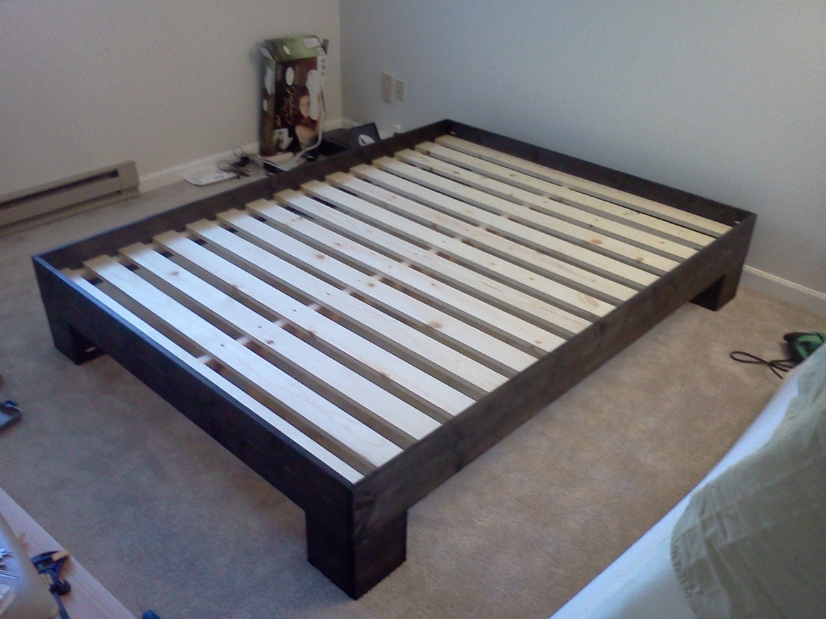 Ana White Chunky Leg Bed Frame Slightly Taller Diy Projects