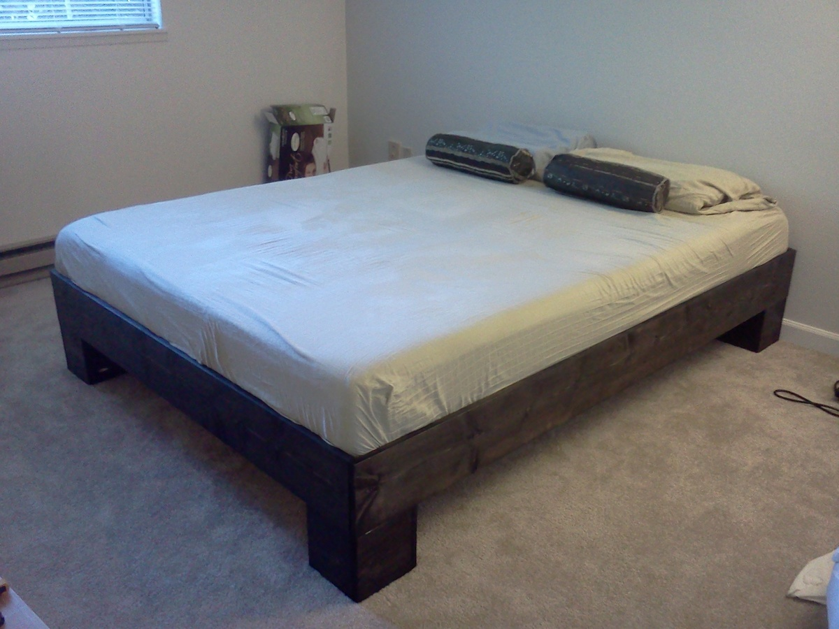 Diy Wood Bed Frame Chunky leg bed frame slightly