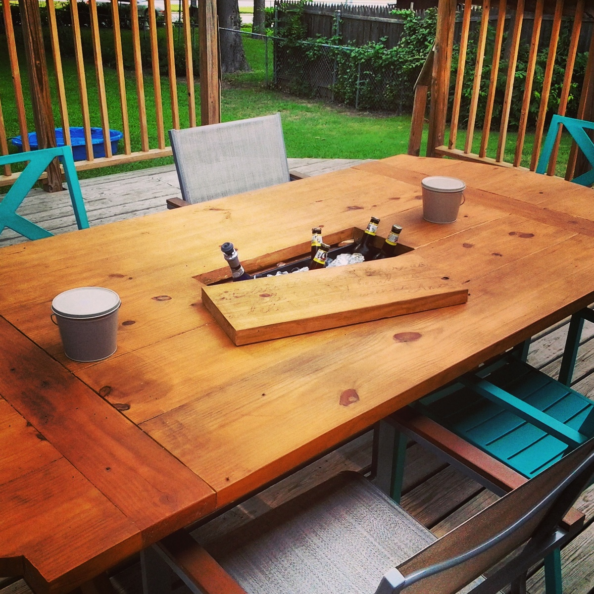 Ana White Patio Table With Built In Cooler Diy Projects