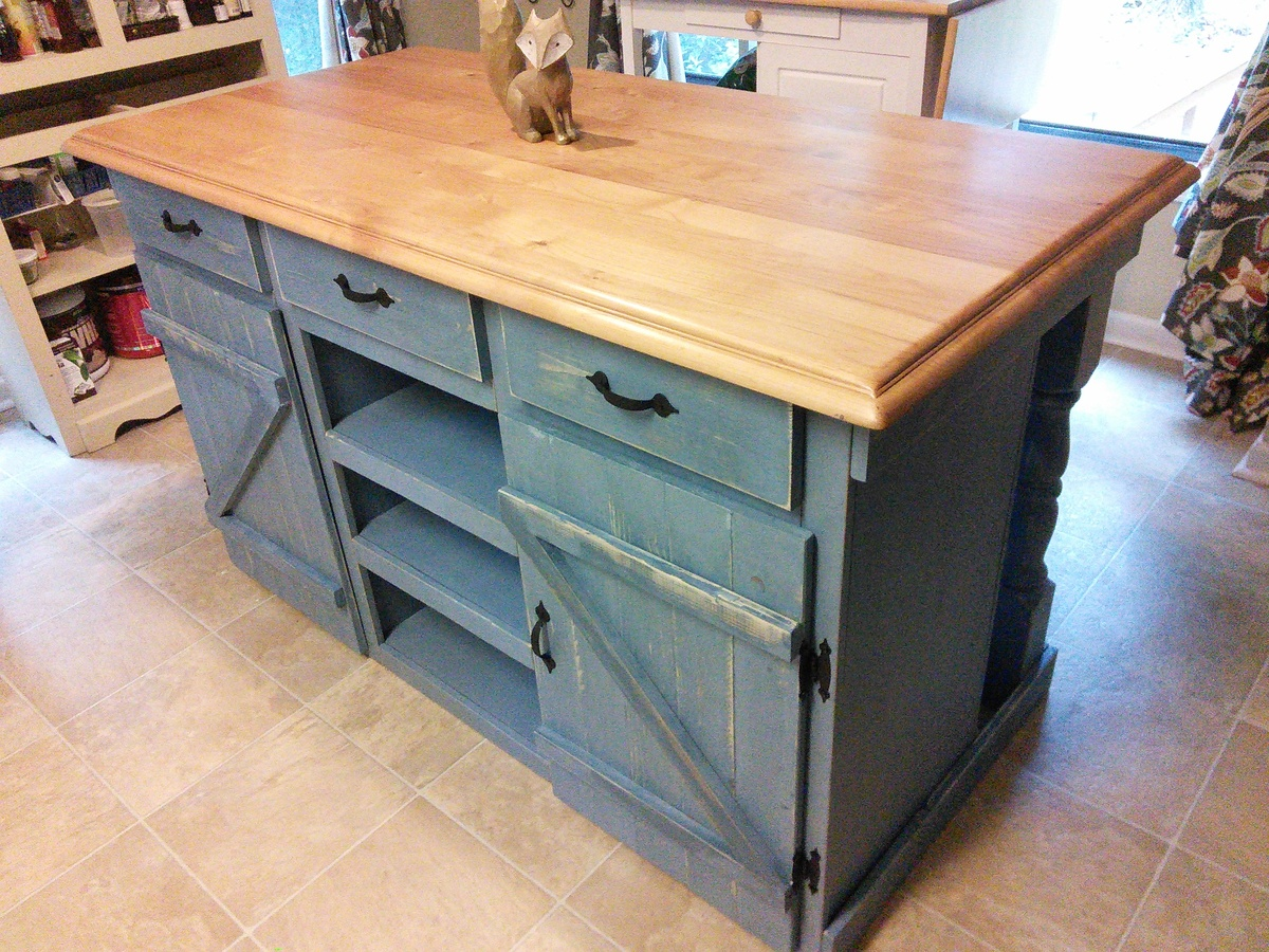 ana white farmhouse kitchen island diy projects On kitchen island plans pdf
