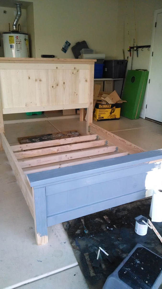 Ana White Farmhouse Queen Bed With Removable Rails Diy