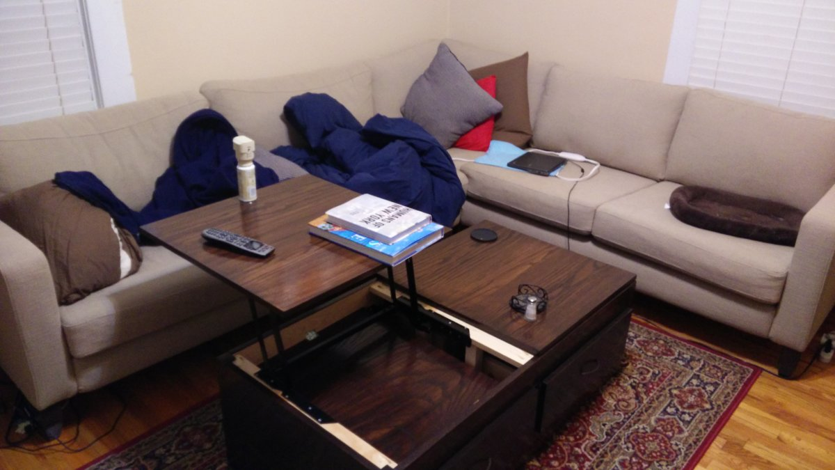 diy fold up coffee table - coffee addicts
