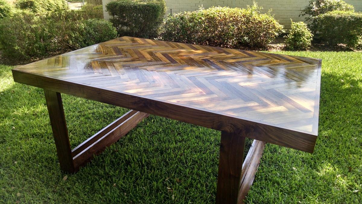 Ana White Herringbone Table Diy Projects