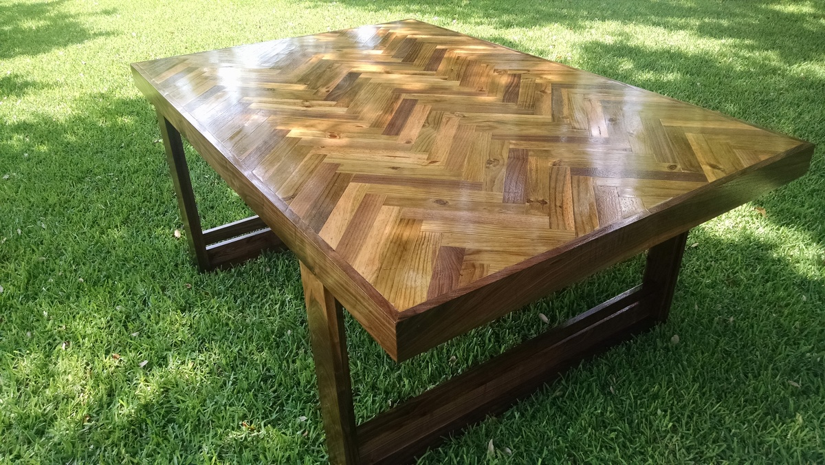 Ana White Herringbone Table Diy Projects