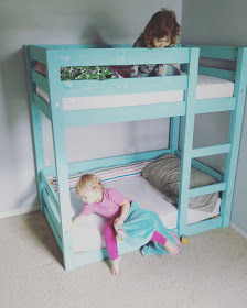 Ana White Bunks Modified For Crib Mattresses Diy Projects