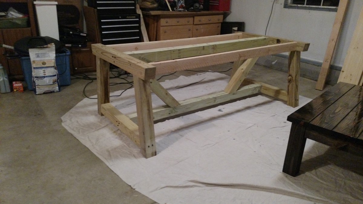 Ana White Farmhouse Truss Beam Dining Table Diy Projects