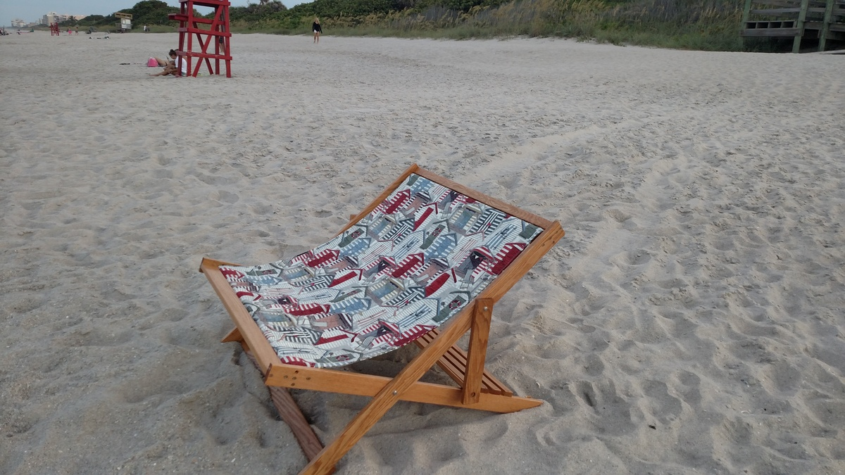 Terrific Wood Folding Sling Chair Deck Chair Or Beach Chair Adult Gmtry Best Dining Table And Chair Ideas Images Gmtryco