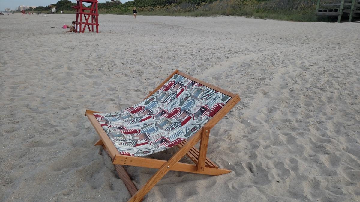 Wood Folding Sling Chair Deck Chair Or Beach Chair