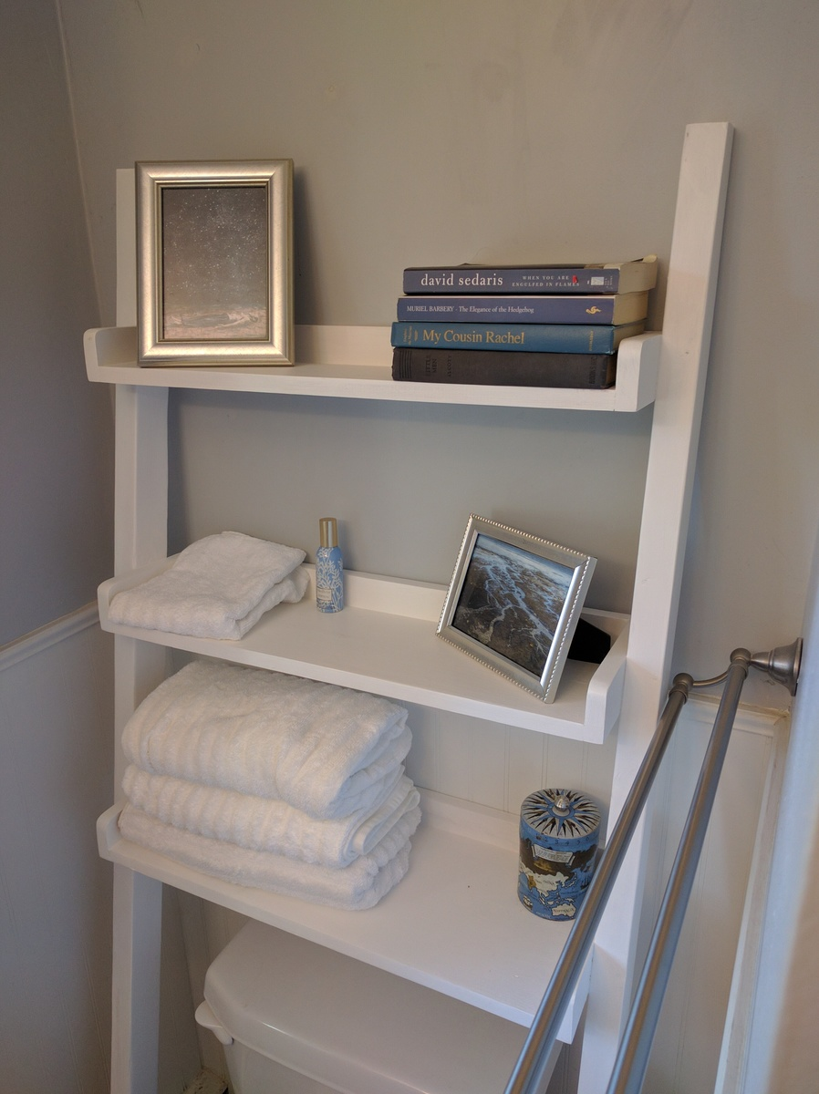 Ana White | Leaning Bathroom Shelf - DIY Projects