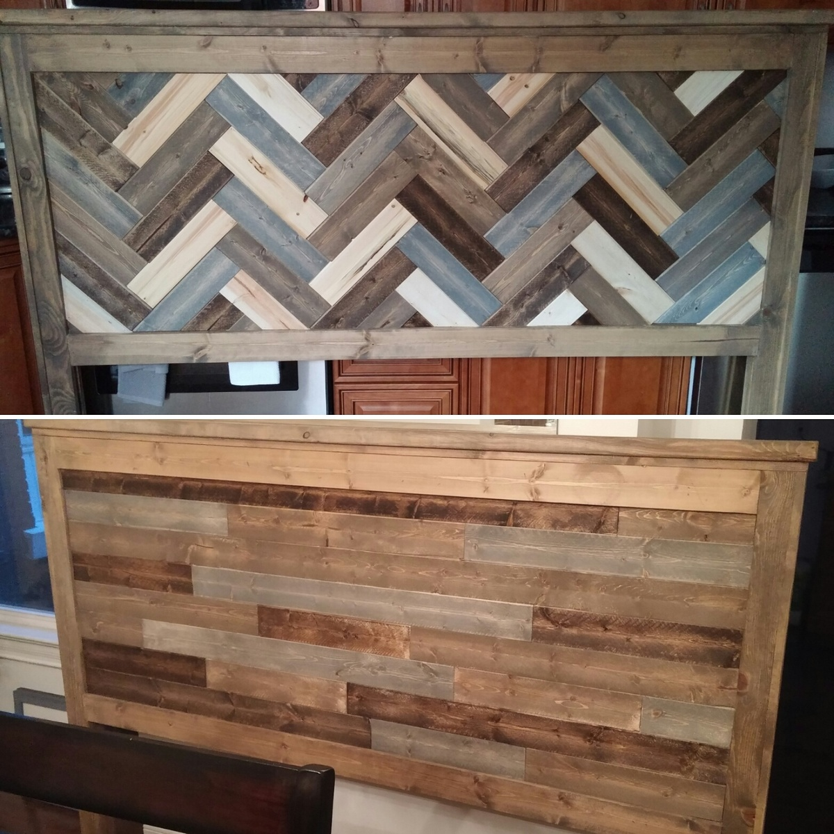 Ana white rustic two sided king headboard diy projects for Headboard designs wood