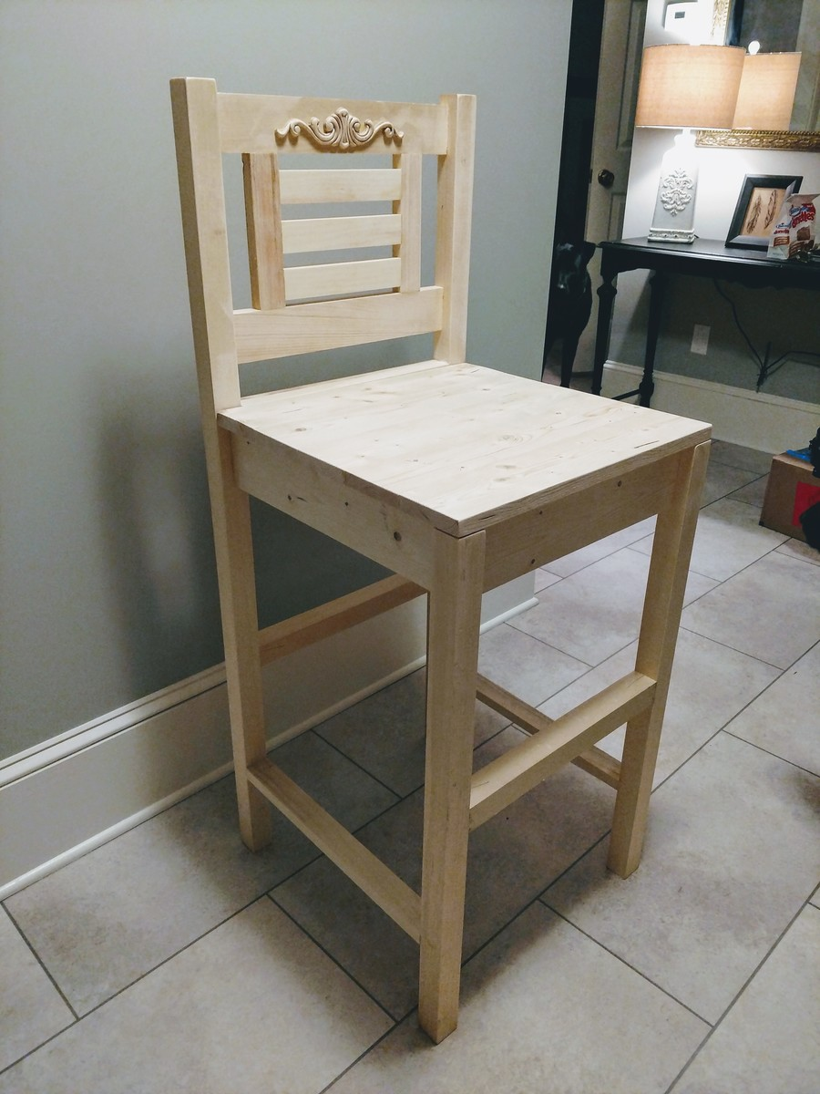 vintage bar stool (unfinished for now). ana white  vintage bar stool (unfinished for now)  diy projects