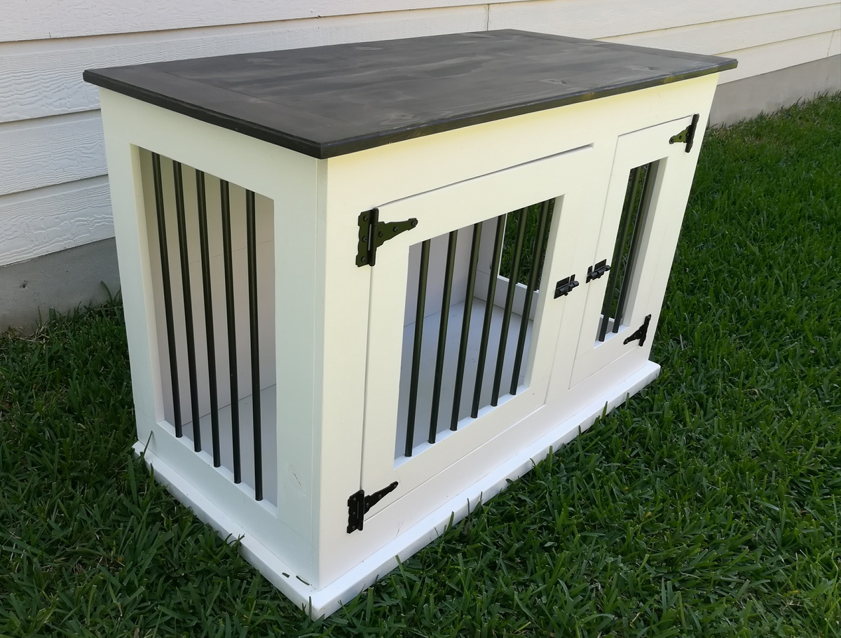 Ana white custom dog kennel diy projects for High end dog crates