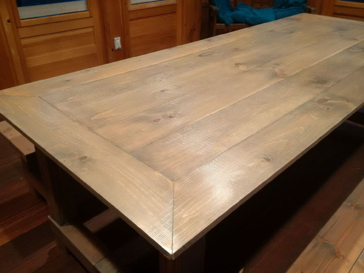 Farmhouse Kitchen Table With Bench Diy