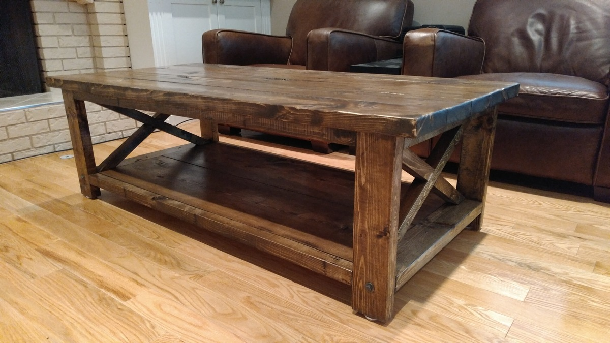 ana white 58 rustic x coffee table diy projects. Black Bedroom Furniture Sets. Home Design Ideas