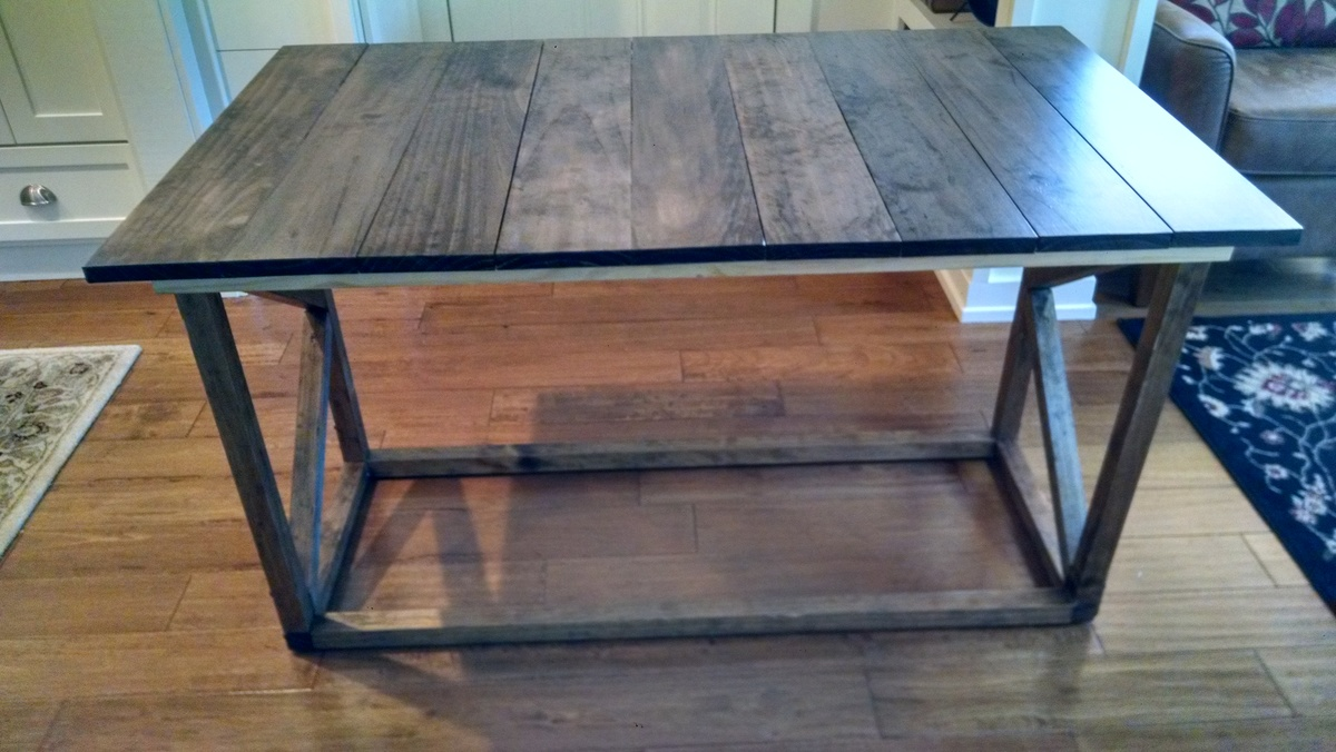 Ana white coffee table dining table combo diy projects for Coffee dining table combo