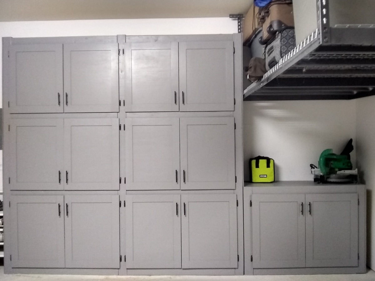 storage cabinets for garage white garage shelves with doors diy projects 26838
