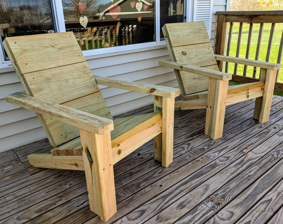 2x4 Adirondack Chairs W 2x10s Ana White