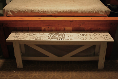 Stupendous Rustic Bench As Wedding Guestbook Ana White Ibusinesslaw Wood Chair Design Ideas Ibusinesslaworg