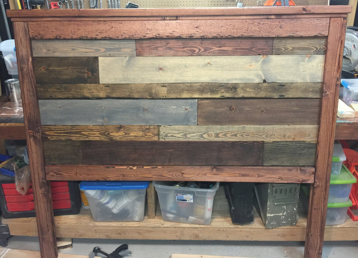 59 Incredibly Simple Rustic Décor Ideas That Can Make Your: Reclaimed Wood-look Headboard - DIY Projects