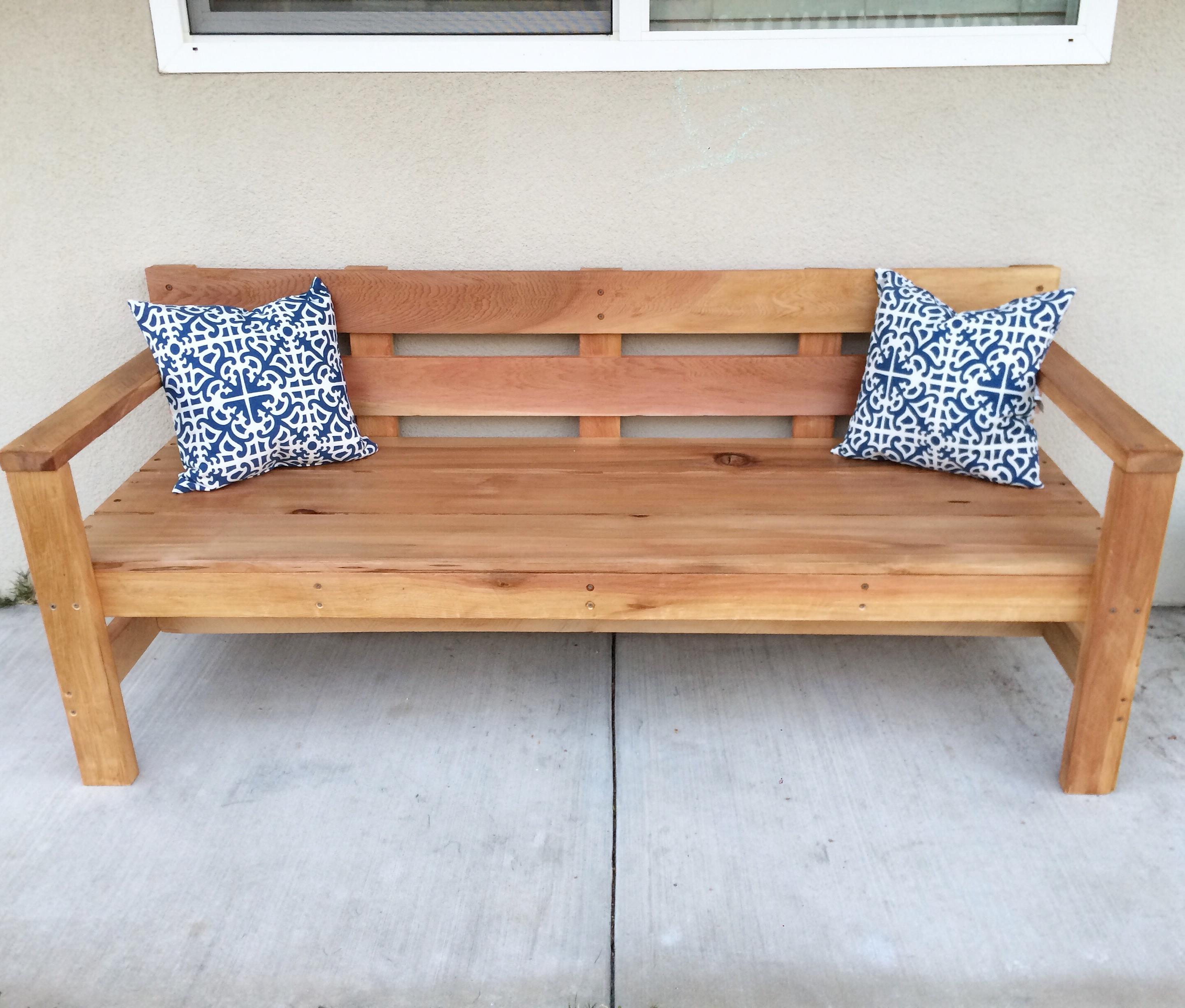 Remarkable Modern Park Bench Ana White Ncnpc Chair Design For Home Ncnpcorg