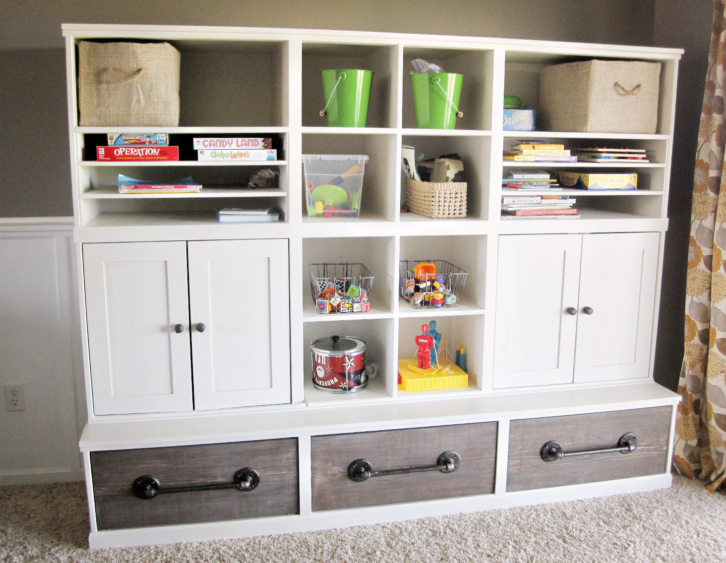Triple Cubby Storage Base Inspired By Pottery Barn Kids