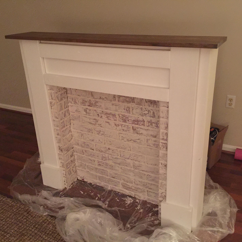 Faux Fireplace Mantel Ana White
