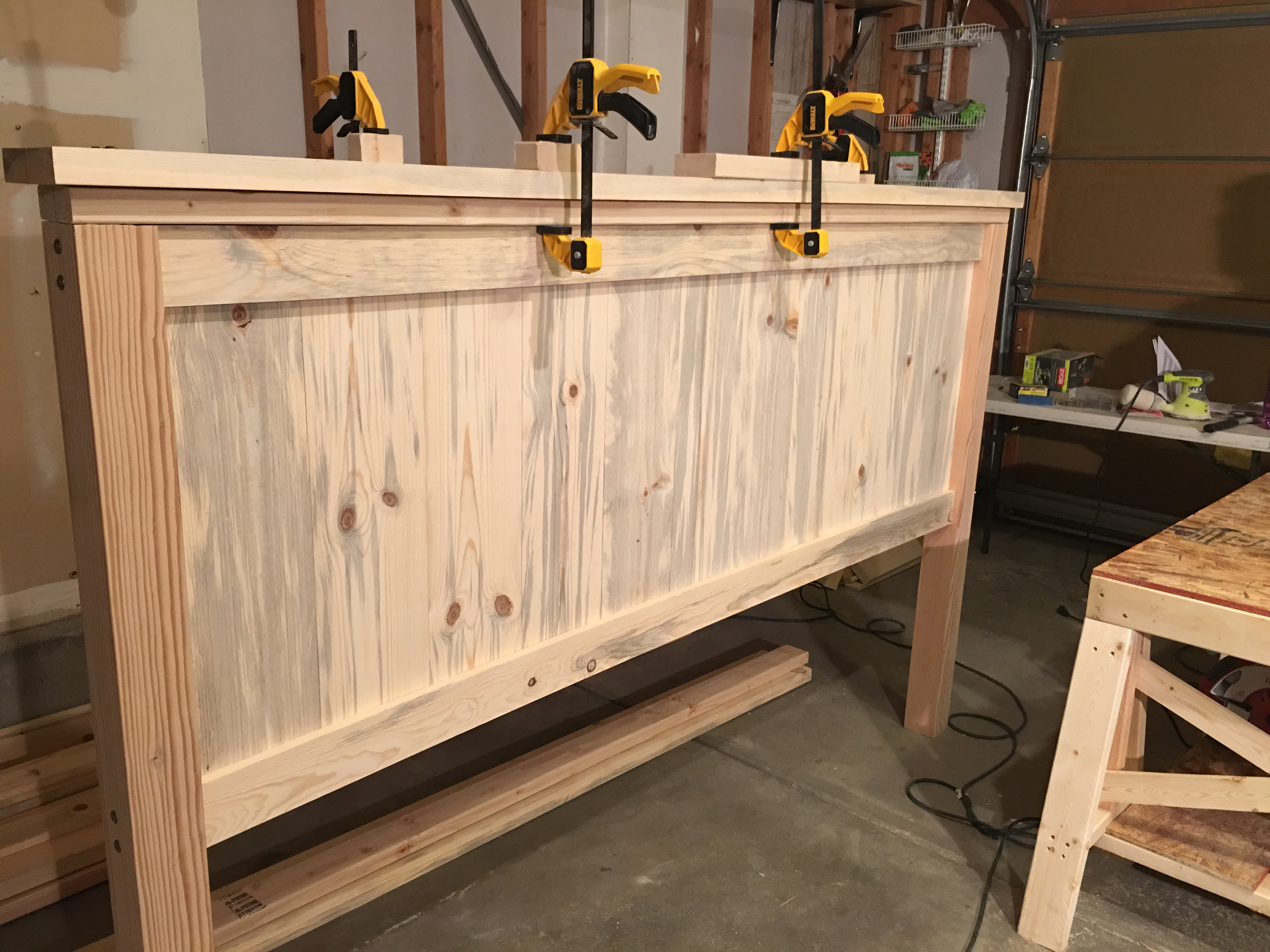 Ana White Farmhouse King Bed Beetle Kill Pine Diy